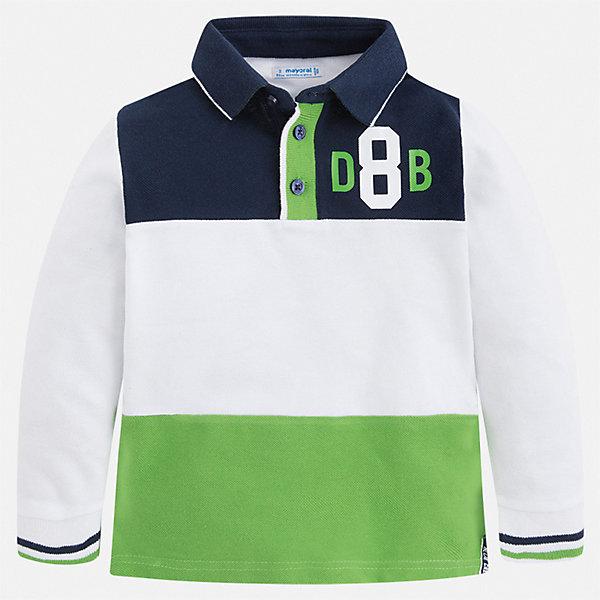 Купить Футболка с длинным рукавом Mayoral для мальчика, Китай, зеленый, 134, 128, 122, 116, 104, 98, 110, 92, Мужской