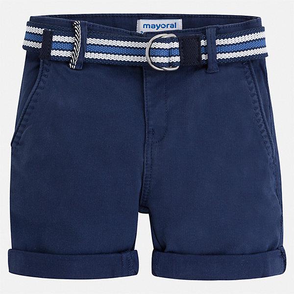 Шорты Mayoral для мальчикаШорты, бриджи, капри<br>Характеристики товара:<br><br>• цвет: синий<br>• комплектация: шорты, ремень<br>• состав ткани: 98% хлопок, 2% эластан<br>• сезон: лето<br>• шлевки<br>• регулируемая талия<br>• застежка: пуговица<br>• страна бренда: Испания<br>• стиль и качество<br><br>Эти хлопковые шорты для мальчика от Майорал помогут обеспечить ребенку комфорт. Легкие детские шорты отличаются стильным дизайном. В шортах для мальчика от испанской компании Майорал ребенок будет выглядеть модно, а чувствовать себя - комфортно. <br><br>Шорты Mayoral (Майорал) для мальчика можно купить в нашем интернет-магазине.<br>Ширина мм: 191; Глубина мм: 10; Высота мм: 175; Вес г: 273; Цвет: синий; Возраст от месяцев: 24; Возраст до месяцев: 36; Пол: Мужской; Возраст: Детский; Размер: 98,104,110,116,122,128,134,92; SKU: 7540320;
