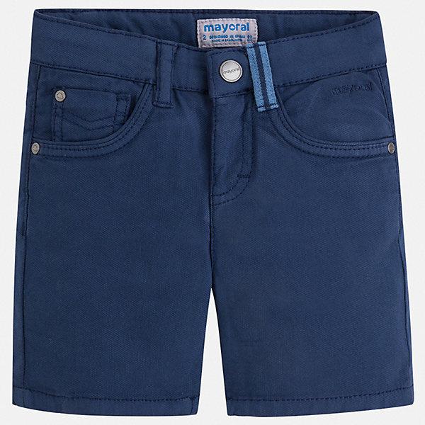 Шорты Mayoral для мальчикаДжинсовая одежда<br>Характеристики товара:<br><br>• цвет: синий<br>• состав ткани: 98% хлопок, 2% эластан<br>• сезон: лето<br>• шлевки<br>• регулируемая талия<br>• застежка: пуговица<br>• страна бренда: Испания<br>• стиль и качество<br><br>Практичные детские шорты подойдут для ношения в разных случаях. Отличный способ обеспечить ребенку комфорт в жаркую погоду - надеть эти шорты от Mayoral. Детские бриджи сшиты из качественного материала с преобладанием хлопка в составе. Шорты для мальчика Mayoral дополнены шлевками. <br><br>Шорты Mayoral (Майорал) для мальчика можно купить в нашем интернет-магазине.<br>Ширина мм: 191; Глубина мм: 10; Высота мм: 175; Вес г: 273; Цвет: синий; Возраст от месяцев: 18; Возраст до месяцев: 24; Пол: Мужской; Возраст: Детский; Размер: 92,134,128,122,116,110,104,98; SKU: 7540356;