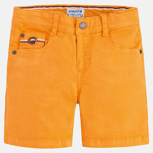 Шорты Mayoral для мальчикаШорты, бриджи, капри<br>Характеристики товара:<br><br>• цвет: оранжевый<br>• состав ткани: 98% хлопок, 2% эластан<br>• сезон: лето<br>• шлевки<br>• регулируемая талия<br>• застежка: пуговицы<br>• страна бренда: Испания<br>• стиль и качество<br><br>Яркие детские шорты сшиты из дышащего плотного материала. Благодаря преобладанию в его составе натурального хлопка материал детских шорт создает комфортные условия для тела. Шорты для мальчика от Mayoral отличаются стильным дизайном от ведущих европейских специалистов.<br><br>Шорты Mayoral (Майорал) для мальчика можно купить в нашем интернет-магазине.<br>Ширина мм: 191; Глубина мм: 10; Высота мм: 175; Вес г: 273; Цвет: желтый; Возраст от месяцев: 18; Возраст до месяцев: 24; Пол: Мужской; Возраст: Детский; Размер: 92,134,128,122,116,110,104,98; SKU: 7540392;