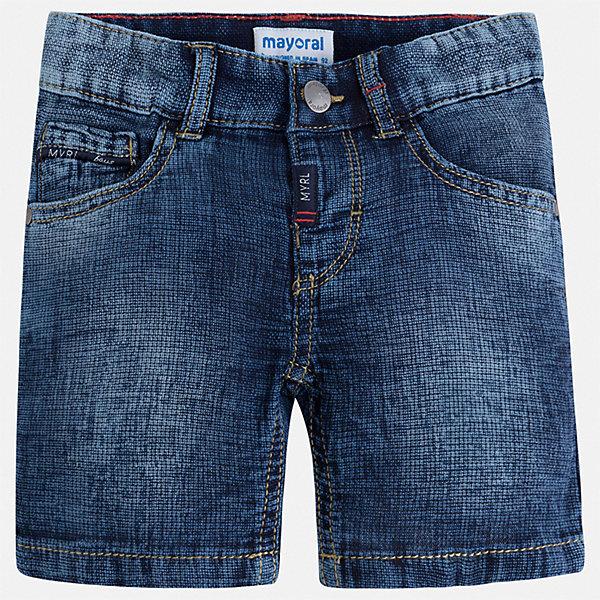 Шорты джинсовые Mayoral для мальчикаДжинсовая одежда<br>Характеристики товара:<br><br>• цвет: синий<br>• состав ткани: 100% хлопок<br>• сезон: лето<br>• шлевки<br>• регулируемая талия<br>• застежка: пуговица<br>• страна бренда: Испания<br>• стиль и качество<br><br>Натуральные хлопковые шорты для детей от Mayoral отличаются лаконичным, но стильным дизайном. Стильные и практичные детские шорты подойдут для ношения в разных случаях. Шорты для мальчика Mayoral дополнены шлевками. Детские шорты сшиты из качественного материала с преобладанием хлопка в составе. <br><br>Шорты Mayoral (Майорал) для мальчика можно купить в нашем интернет-магазине.<br>Ширина мм: 191; Глубина мм: 10; Высота мм: 175; Вес г: 273; Цвет: голубой; Возраст от месяцев: 36; Возраст до месяцев: 48; Пол: Мужской; Возраст: Детский; Размер: 104,98,92,134,128,122,116,110; SKU: 7540437;