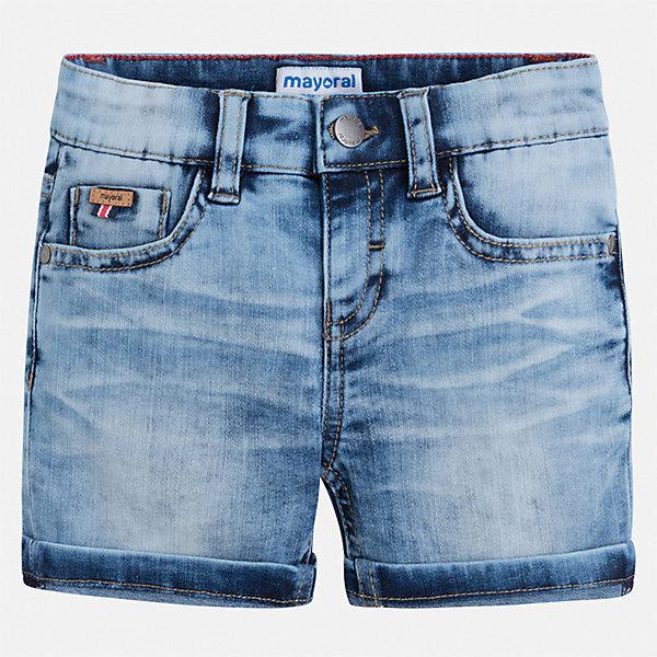 Шорты джинсовые Mayoral для мальчикаШорты, бриджи, капри<br>Характеристики товара:<br><br>• цвет: синий<br>• состав ткани: 78% хлопок, 20% полиэстер, 2% эластан<br>• сезон: лето<br>• шлевки<br>• регулируемая талия<br>• застежка: пуговицы<br>• страна бренда: Испания<br>• стиль и качество<br><br>Эти детские джинсовые шорты сшиты из дышащего плотного материала. Благодаря преобладанию в его составе натурального хлопка материал детских шорт создает комфортные условия для тела. Шорты для мальчика от Mayoral отличаются стильным дизайном.<br><br>Шорты Mayoral (Майорал) для мальчика можно купить в нашем интернет-магазине.<br>Ширина мм: 191; Глубина мм: 10; Высота мм: 175; Вес г: 273; Цвет: белый; Возраст от месяцев: 18; Возраст до месяцев: 24; Пол: Мужской; Возраст: Детский; Размер: 92,134,128,122,116,110,104,98; SKU: 7540473;