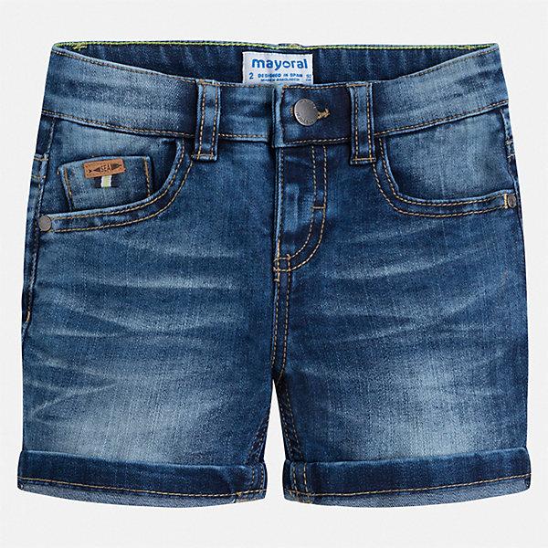 Шорты джинсовые Mayoral для мальчикаДжинсовая одежда<br>Характеристики товара:<br><br>• цвет: синий<br>• состав ткани: 78% хлопок, 20% полиэстер, 2% эластан<br>• сезон: лето<br>• шлевки<br>• регулируемая талия<br>• застежка: пуговица<br>• страна бренда: Испания<br>• стиль и качество<br><br>Хлопковые шорты для мальчика от Майорал созданы специально для детей. Стильные детские шорты отличаются современным дизайном. В шортах для мальчика от испанской компании Майорал ребенок будет выглядеть модно, а чувствовать себя - комфортно. <br><br>Шорты Mayoral (Майорал) для мальчика можно купить в нашем интернет-магазине.<br>Ширина мм: 191; Глубина мм: 10; Высота мм: 175; Вес г: 273; Цвет: синий; Возраст от месяцев: 18; Возраст до месяцев: 24; Пол: Мужской; Возраст: Детский; Размер: 92,134,128,122,116,110,104,98; SKU: 7540482;
