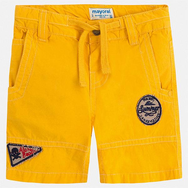 Шорты Mayoral для мальчикаШорты, бриджи, капри<br>Характеристики товара:<br><br>• цвет: желтый<br>• состав ткани: 100% хлопок<br>• сезон: лето<br>• шлевки<br>• пояс: шнурок<br>• застежка: пуговица<br>• страна бренда: Испания<br>• стиль и качество<br><br>Яркие бриджи для мальчика от Майорал созданы специально для детей. Стильные детские бриджи отличаются оригинальным декором. В шортах для мальчика от испанской компании Майорал ребенок будет выглядеть модно, а чувствовать себя - комфортно. <br><br>Бриджи Mayoral (Майорал) для мальчика можно купить в нашем интернет-магазине.<br>Ширина мм: 191; Глубина мм: 10; Высота мм: 175; Вес г: 273; Цвет: желтый; Возраст от месяцев: 96; Возраст до месяцев: 108; Пол: Мужской; Возраст: Детский; Размер: 134,92,98,104,110,116,122,128; SKU: 7540545;