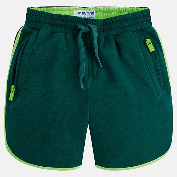 Шорты Mayoral для мальчикаШорты, бриджи, капри<br>Характеристики товара:<br><br>• цвет: зеленый<br>• состав ткани: 100% хлопок<br>• сезон: лето<br>• особенности модели: спортивный стиль<br>• пояс: шнурок<br>• страна бренда: Испания<br>• стиль и качество<br><br>Спортивные шорты для мальчика Mayoral отличаются мягкой резинкой и шнурком на талии. Такие детские шорты подойдут для ношения в разных случаях: как спортивную, повседневную или домашнюю одежду. Детские шорты сшиты из качественного материала с преобладанием хлопка в составе. <br><br>Шорты Mayoral (Майорал) для мальчика можно купить в нашем интернет-магазине.<br>Ширина мм: 191; Глубина мм: 10; Высота мм: 175; Вес г: 273; Цвет: зеленый; Возраст от месяцев: 48; Возраст до месяцев: 60; Пол: Мужской; Возраст: Детский; Размер: 110,104,98,92,134,128,122,116; SKU: 7540606;