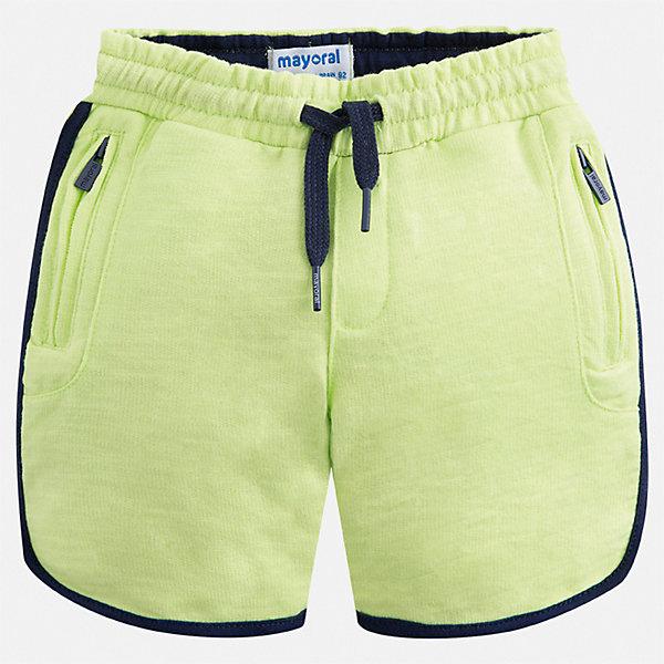 Шорты Mayoral для мальчикаШорты, бриджи, капри<br>Характеристики товара:<br><br>• цвет: мульти<br>• состав ткани: 100% хлопок<br>• сезон: лето<br>• особенности модели: спортивный стиль<br>• пояс: шнурок<br>• страна бренда: Испания<br>• стиль и качество<br><br>Спортивные шорты для мальчика от Mayoral отличаются модным дизайном. Практичные детские шорты сшиты из дышащего легкого материала. Благодаря наличию в его составе натурального хлопка материал детских шорт создает комфортные условия для тела. <br><br>Шорты Mayoral (Майорал) для мальчика можно купить в нашем интернет-магазине.<br>Ширина мм: 191; Глубина мм: 10; Высота мм: 175; Вес г: 273; Цвет: желтый; Возраст от месяцев: 96; Возраст до месяцев: 108; Пол: Мужской; Возраст: Детский; Размер: 134,92,98,104,110,116,122,128; SKU: 7540615;