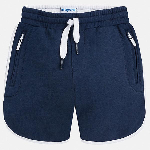 Шорты Mayoral для мальчикаДжинсовая одежда<br>Характеристики товара:<br><br>• цвет: синий<br>• состав ткани: 100% хлопок<br>• сезон: лето<br>• особенности модели: спортивный стиль<br>• пояс: шнурок<br>• страна бренда: Испания<br>• стиль и качество<br><br>Практичные спортивные шорты для мальчика Mayoral отличаются мягкой резинкой и шнурком на талии. Такие детские шорты подойдут для ношения в разных случаях: как спортивную, повседневную или домашнюю одежду. Детские шорты сшиты из качественного материала с преобладанием хлопка в составе. <br><br>Шорты Mayoral (Майорал) для мальчика можно купить в нашем интернет-магазине.<br>Ширина мм: 191; Глубина мм: 10; Высота мм: 175; Вес г: 273; Цвет: синий; Возраст от месяцев: 96; Возраст до месяцев: 108; Пол: Мужской; Возраст: Детский; Размер: 134,92,98,104,110,116,122,128; SKU: 7540633;