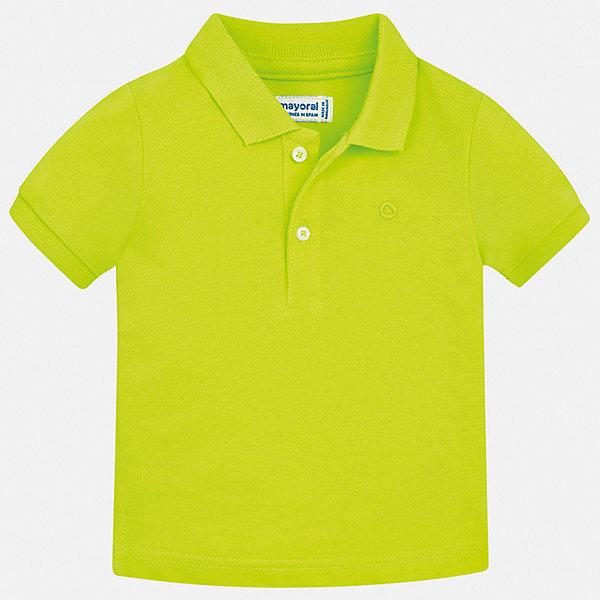 Рубашка-поло Mayoral для мальчикаФутболки, поло и топы<br>Характеристики товара:<br><br>• цвет: зеленый<br>• состав ткани: 100% хлопок<br>• сезон: лето<br>• особенности модели: отложной воротник<br>• застежка: пуговицы<br>• короткие рукава<br>• страна бренда: Испания<br>• стиль и качество <br><br>Хлопковая футболка-поло для мальчика от Майорал поможет обеспечить ребенку комфорт. Детская футболка-поло отличается стильным и продуманным дизайном. В футболке-поло для мальчика от испанской компании Майорал ребенок будет выглядеть модно, а чувствовать себя - комфортно. <br><br>Футболку-поло Mayoral (Майорал) для мальчика можно купить в нашем интернет-магазине.<br>Ширина мм: 174; Глубина мм: 10; Высота мм: 169; Вес г: 157; Цвет: зеленый; Возраст от месяцев: 12; Возраст до месяцев: 15; Пол: Мужской; Возраст: Детский; Размер: 80,98,92,86; SKU: 7541074;