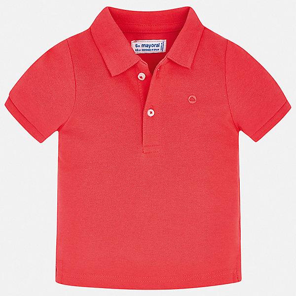 Купить Рубашка-поло Mayoral для мальчика, Бангладеш, бордовый, 80, 92, 86, 98, Мужской