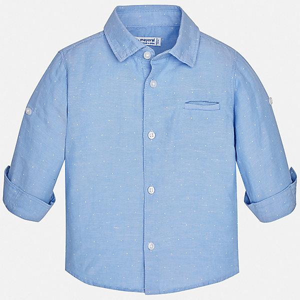 Рубашка Mayoral для мальчикаБлузки и рубашки<br>Характеристики товара:<br><br>• цвет: голубой<br>• состав ткани: 100% хлопок<br>• сезон: демисезон<br>• застежка: пуговицы<br>• рукава: 1/2<br>• страна бренда: Испания<br>• стиль и качество<br><br>Хлопковая рубашка для мальчика от Майорал поможет создать стильный и удобный наряд. Детская рубашка отличается модным и продуманным дизайном. В рубашке для мальчика от испанской компании Майорал ребенок будет выглядеть оригинально и аккуратно. <br><br>Рубашку Mayoral (Майорал) для мальчика можно купить в нашем интернет-магазине.<br>Ширина мм: 174; Глубина мм: 10; Высота мм: 169; Вес г: 157; Цвет: разноцветный; Возраст от месяцев: 24; Возраст до месяцев: 36; Пол: Мужской; Возраст: Детский; Размер: 98,92,86,80; SKU: 7541084;