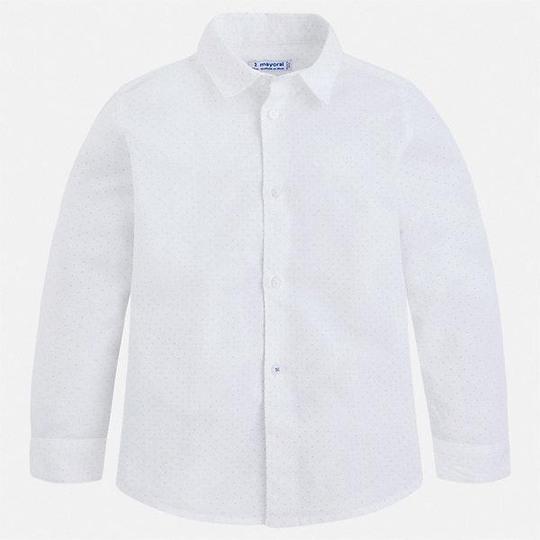 Рубашка Mayoral для мальчикаОдежда<br>Характеристики товара:<br><br>• цвет: голубой<br>• состав ткани: 70% хлопок, 30% лен<br>• сезон: демисезон<br>• застежка: пуговицы<br>• длинные рукава<br>• страна бренда: Испания<br>• стиль и качество<br><br>Такая детская рубашка сделана из дышащего приятного на ощупь материала. Благодаря продуманному крою детской рубашки создаются комфортные условия для тела. Рубашка с длинным рукавом для мальчика отличается лаконичным продуманным дизайном.<br><br>Рубашку Mayoral (Майорал) для мальчика можно купить в нашем интернет-магазине.<br>Ширина мм: 174; Глубина мм: 10; Высота мм: 169; Вес г: 157; Цвет: разноцветный; Возраст от месяцев: 96; Возраст до месяцев: 108; Пол: Мужской; Возраст: Детский; Размер: 134,92,98,104,110,116,122,128; SKU: 7541112;