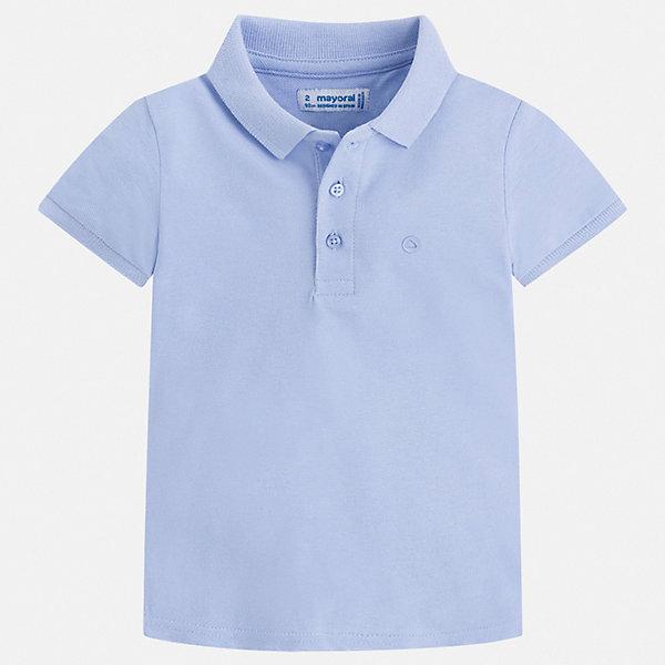 Футболка-поло Mayoral для мальчикаФутболки, поло и топы<br>Характеристики товара:<br><br>• цвет: голубой<br>• состав ткани: 100% хлопок<br>• сезон: лето<br>• особенности модели: отложной воротник<br>• застежка: пуговицы<br>• короткие рукава<br>• страна бренда: Испания<br>• стиль и качество <br><br>Эта футболка-поло для мальчика от Mayoral удобно сидит по фигуре. Стильная детская футболка-поло сделана из натуральной хлопковой ткани. Отличный способ обеспечить ребенку комфорт и стильный вид - надеть детскую футболку-поло от Mayoral. Детская футболка-поло сшита из приятного на ощупь материала. <br><br>Футболку-поло Mayoral (Майорал) для мальчика можно купить в нашем интернет-магазине.<br>Ширина мм: 174; Глубина мм: 10; Высота мм: 169; Вес г: 157; Цвет: голубой; Возраст от месяцев: 96; Возраст до месяцев: 108; Пол: Мужской; Возраст: Детский; Размер: 134,128,122,116,110,104,98,92; SKU: 7541139;