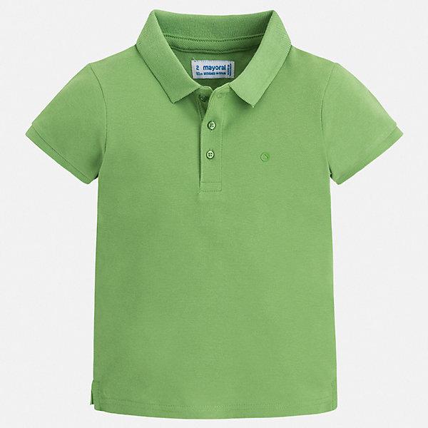 Футболка-поло Mayoral для мальчикаФутболки, поло и топы<br>Характеристики товара:<br><br>• цвет: зеленый<br>• состав ткани: 100% хлопок<br>• сезон: лето<br>• особенности модели: отложной воротник<br>• застежка: пуговицы<br>• короткие рукава<br>• страна бренда: Испания<br>• стиль и качество<br><br>Такая футболка-поло для мальчика отличается стильным продуманным дизайном. Яркая детская футболка-поло с коротким рукавом сделана из дышащего приятного на ощупь материала. Благодаря продуманному крою детской футболки-поло создаются комфортные условия для тела. <br><br>Футболку-поло Mayoral (Майорал) для мальчика можно купить в нашем интернет-магазине.<br>Ширина мм: 174; Глубина мм: 10; Высота мм: 169; Вес г: 157; Цвет: зеленый; Возраст от месяцев: 18; Возраст до месяцев: 24; Пол: Мужской; Возраст: Детский; Размер: 92,134,128,122,116,110,104,98; SKU: 7541157;