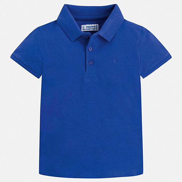 Футболка-поло Mayoral для мальчикаФутболки, поло и топы<br>Характеристики товара:<br><br>• цвет: синий<br>• состав ткани: 100% хлопок<br>• сезон: лето<br>• особенности модели: отложной воротник<br>• застежка: пуговицы<br>• короткие рукава<br>• страна бренда: Испания<br>• стиль и качество <br><br>Стильная хлопковая футболка-поло для мальчика от Майорал поможет обеспечить ребенку комфорт. Детская футболка-поло отличается стильным и продуманным дизайном. В футболке-поло для мальчика от испанской компании Майорал ребенок будет выглядеть модно, а чувствовать себя - комфортно. <br><br>Футболку-поло Mayoral (Майорал) для мальчика можно купить в нашем интернет-магазине.<br>Ширина мм: 174; Глубина мм: 10; Высота мм: 169; Вес г: 157; Цвет: синий; Возраст от месяцев: 24; Возраст до месяцев: 36; Пол: Мужской; Возраст: Детский; Размер: 98,104,110,116,122,128,134,92; SKU: 7541175;