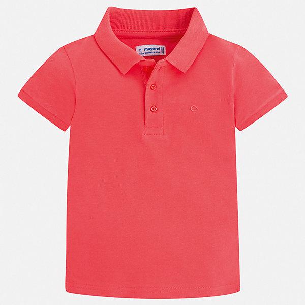 Футболка-поло Mayoral для мальчикаФутболки, поло и топы<br>Характеристики товара:<br><br>• цвет: красный<br>• состав ткани: 100% хлопок<br>• сезон: лето<br>• особенности модели: отложной воротник<br>• застежка: пуговицы<br>• короткие рукава<br>• страна бренда: Испания<br>• стиль и качество <br><br>Стильная хлопковая футболка-поло для мальчика от Майорал поможет обеспечить ребенку комфорт. Детская футболка-поло отличается стильным и продуманным дизайном. В футболке-поло для мальчика от испанской компании Майорал ребенок будет выглядеть модно, а чувствовать себя - комфортно. <br><br>Футболку-поло Mayoral (Майорал) для мальчика можно купить в нашем интернет-магазине.<br>Ширина мм: 174; Глубина мм: 10; Высота мм: 169; Вес г: 157; Цвет: бордовый; Возраст от месяцев: 18; Возраст до месяцев: 24; Пол: Мужской; Возраст: Детский; Размер: 92,134,128,122,116,110,104,98; SKU: 7541202;