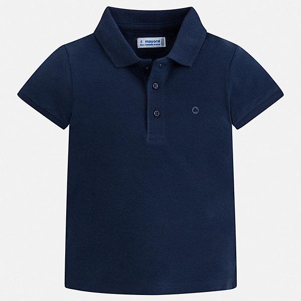 Рубашка-поло Mayoral для мальчикаФутболки, поло и топы<br>Характеристики товара:<br><br>• цвет: белый<br>• состав ткани: 100% хлопок<br>• сезон: лето<br>• особенности модели: отложной воротник<br>• застежка: пуговицы<br>• короткие рукава<br>• страна бренда: Испания<br>• стиль и качество <br><br>Футболка-поло для мальчика от Mayoral удобно сидит по фигуре. Стильная детская футболка-поло сделана из натуральной хлопковой ткани. Отличный способ обеспечить ребенку комфорт и стильный вид - надеть детскую футболку-поло от Mayoral. Детская футболка-поло сшита из приятного на ощупь материала. <br><br>Футболку-поло Mayoral (Майорал) для мальчика можно купить в нашем интернет-магазине.<br>Ширина мм: 174; Глубина мм: 10; Высота мм: 169; Вес г: 157; Цвет: синий; Возраст от месяцев: 96; Возраст до месяцев: 108; Пол: Мужской; Возраст: Детский; Размер: 134,92,98,104,110,116,122,128; SKU: 7541211;