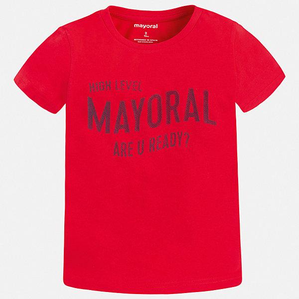 Футболка Mayoral для мальчикаФутболки, поло и топы<br>Характеристики товара:<br><br>• цвет: красный<br>• состав ткани: 100% хлопок<br>• сезон: лето<br>• короткие рукава<br>• страна бренда: Испания<br>• стиль и качество<br><br>Яркая хлопковая футболка для мальчика от Майорал поможет обеспечить ребенку комфорт. Детская футболка отличается стильным и продуманным дизайном. В футболке для мальчика от испанской компании Майорал ребенок будет выглядеть модно, а чувствовать себя - удобно. <br><br>Футболку Mayoral (Майорал) для мальчика можно купить в нашем интернет-магазине.<br>Ширина мм: 199; Глубина мм: 10; Высота мм: 161; Вес г: 151; Цвет: бордовый; Возраст от месяцев: 96; Возраст до месяцев: 108; Пол: Мужской; Возраст: Детский; Размер: 134,92,98,104,110,116,122,128; SKU: 7541238;