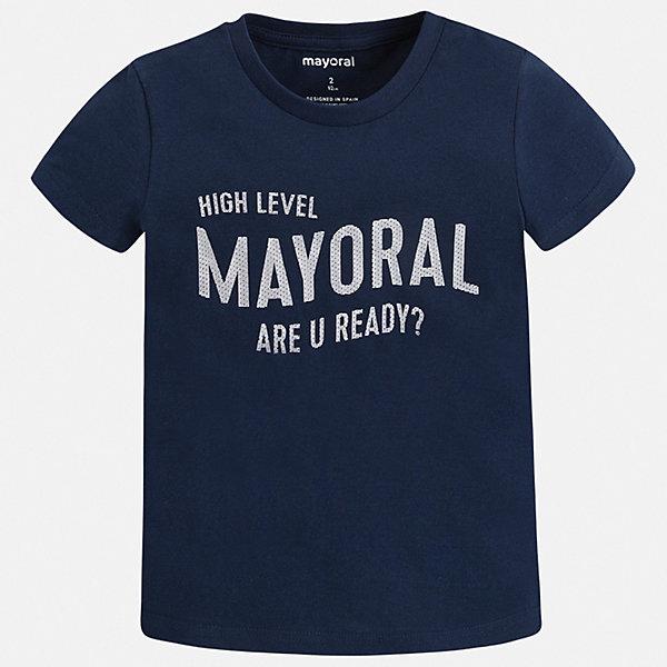 Футболка Mayoral для мальчикаФутболки, поло и топы<br>Характеристики товара:<br><br>• цвет: синий<br>• состав ткани: 100% хлопок<br>• сезон: лето<br>• короткие рукава<br>• страна бренда: Испания<br>• стиль и качество<br><br>Практичная футболка для мальчика от Mayoral удобно сидит по фигуре. Стильная детская футболка сделана из натуральной дышащей и антиаллергенной хлопковой ткани. Детская футболка поможет создать модный и комфортный наряд для ребенка. <br><br>Футболку Mayoral (Майорал) для мальчика можно купить в нашем интернет-магазине.<br>Ширина мм: 199; Глубина мм: 10; Высота мм: 161; Вес г: 151; Цвет: синий; Возраст от месяцев: 96; Возраст до месяцев: 108; Пол: Мужской; Возраст: Детский; Размер: 134,92,98,104,110,116,122,128; SKU: 7541283;