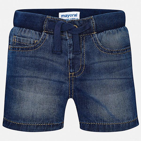 Шорты джинсовые Mayoral для мальчикаШорты, бриджи, капри<br>Характеристики товара:<br><br>• цвет: синий<br>• состав ткани: 100% хлопок<br>• сезон: лето<br>• пояс: шнурок<br>• страна бренда: Испания<br>• стиль и качество<br><br>Джинсовые шорты для мальчика от Майорал помогут обеспечить ребенку комфорт. Такие детские шорты отличаются лаконичным дизайном. В шортах для мальчика от испанской компании Майорал ребенок будет выглядеть модно, а чувствовать себя - комфортно. <br><br>Шорты Mayoral (Майорал) для мальчика можно купить в нашем интернет-магазине.<br>Ширина мм: 191; Глубина мм: 10; Высота мм: 175; Вес г: 273; Цвет: синий; Возраст от месяцев: 12; Возраст до месяцев: 15; Пол: Мужской; Возраст: Детский; Размер: 80,98,92,86; SKU: 7541328;