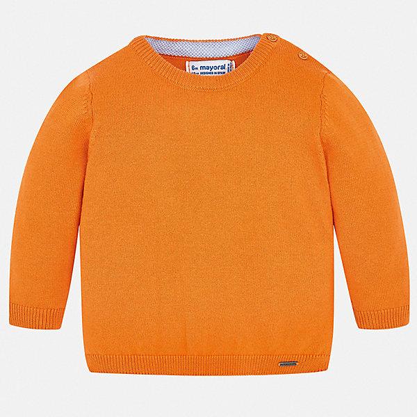 Свитер Mayoral для мальчикаТолстовки, свитера, кардиганы<br>Характеристики товара:<br><br>• состав ткани: 82% хлопок, 18% полиамид<br>• сезон: демисезон<br>• застежка: пуговицы<br>• длинные рукава<br>• страна бренда: Испания<br>• стиль и качество<br><br>Стильный свитер для мальчика от Майорал имеет пуговицы на плече. Детский свитер отличается модным универсальным дизайном. В свитере для мальчика от испанской компании Майорал ребенок чувствовать себя комфортно в прохладную погоду. <br><br>Свитер Mayoral (Майорал) для мальчика можно купить в нашем интернет-магазине.<br>Ширина мм: 190; Глубина мм: 74; Высота мм: 229; Вес г: 236; Цвет: оранжевый; Возраст от месяцев: 24; Возраст до месяцев: 36; Пол: Мужской; Возраст: Детский; Размер: 98,74,80,86,92; SKU: 7541446;