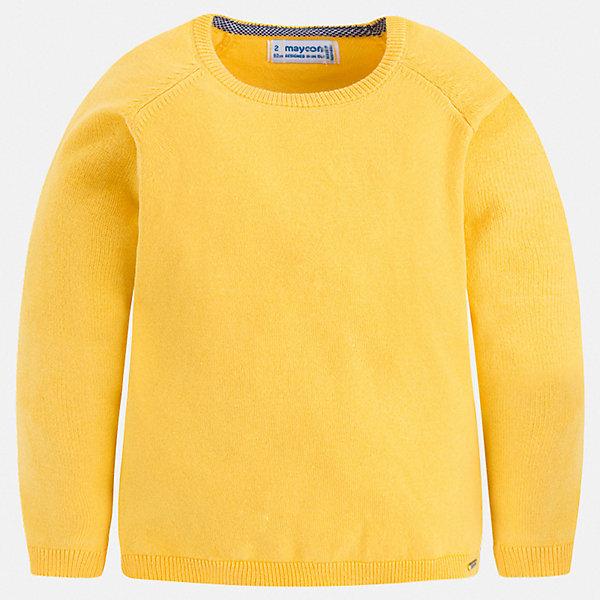 Свитер Mayoral для мальчикаСвитера и кардиганы<br>Характеристики товара:<br><br>• цвет: желтый<br>• состав ткани: 82% хлопок, 18% полиамид<br>• сезон: демисезон<br>• длинные рукава<br>• страна бренда: Испания<br>• стиль и качество<br><br>Свитер для мальчика дополнен мягкими манжетами и резинкой по низу. Такой свитер для мальчика Mayoral удобно сидит по фигуре. Яркий детский свитер сделан из приятного на ощупь материала. Отличный способ обеспечить ребенку комфорт и аккуратный внешний вид - надеть детский свитер от Mayoral. <br><br>Свитер Mayoral (Майорал) для мальчика можно купить в нашем интернет-магазине.<br>Ширина мм: 190; Глубина мм: 74; Высота мм: 229; Вес г: 236; Цвет: желтый; Возраст от месяцев: 18; Возраст до месяцев: 24; Пол: Мужской; Возраст: Детский; Размер: 92,134,128,122,116,110,104,98; SKU: 7541505;