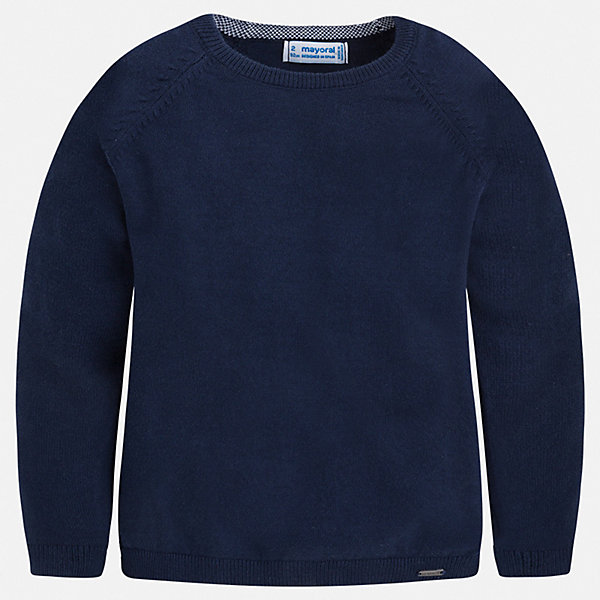 Свитер Mayoral для мальчикаСвитера и кардиганы<br>Характеристики товара:<br><br>• цвет: синий<br>• состав ткани: 82% хлопок, 18% полиамид<br>• сезон: демисезон<br>• длинные рукава<br>• страна бренда: Испания<br>• стиль и качество<br><br>Универсальный свитер для мальчика дополнен мягкими манжетами и резинкой по низу. Такой свитер для мальчика Mayoral удобно сидит по фигуре. Этот детский свитер сделан из приятного на ощупь материала. Отличный способ обеспечить ребенку комфорт и аккуратный внешний вид - надеть детский свитер от Mayoral. <br><br>Свитер Mayoral (Майорал) для мальчика можно купить в нашем интернет-магазине.<br>Ширина мм: 190; Глубина мм: 74; Высота мм: 229; Вес г: 236; Цвет: синий; Возраст от месяцев: 60; Возраст до месяцев: 72; Пол: Мужской; Возраст: Детский; Размер: 116,134,128,122,110,104,98,92; SKU: 7541532;