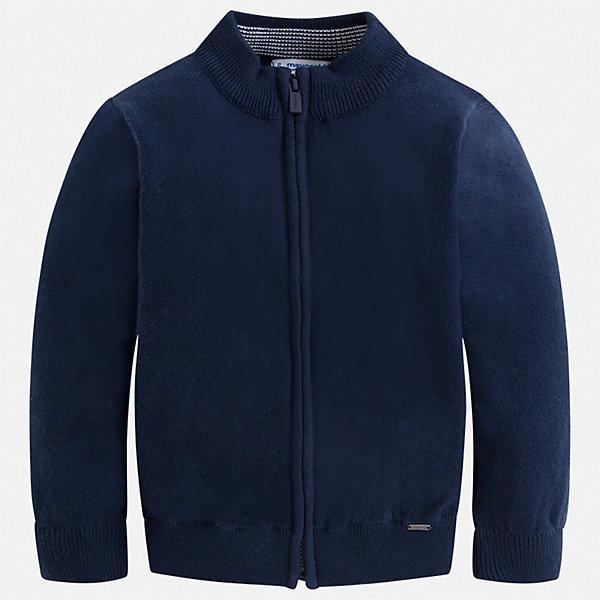 Кардиган Mayoral для мальчикаСвитера и кардиганы<br>Характеристики товара:<br><br>• состав ткани: 80% хлопок, 20% полиамид<br>• сезон: демисезон<br>• застежка: молния<br>• длинные рукава<br>• страна бренда: Испания<br>• стиль и качество<br><br>Такой детский кардиган сделан из дышащего приятного на ощупь материала. Благодаря продуманному крою детского кардигана создаются комфортные условия для тела. Кардиган с капюшоном для мальчика отличается стильным продуманным дизайном.<br><br>Кардиган Mayoral (Майорал) для мальчика можно купить в нашем интернет-магазине.<br>Ширина мм: 190; Глубина мм: 74; Высота мм: 229; Вес г: 236; Цвет: синий; Возраст от месяцев: 18; Возраст до месяцев: 24; Пол: Мужской; Возраст: Детский; Размер: 92,134,128,122,116,110,104,98; SKU: 7541559;