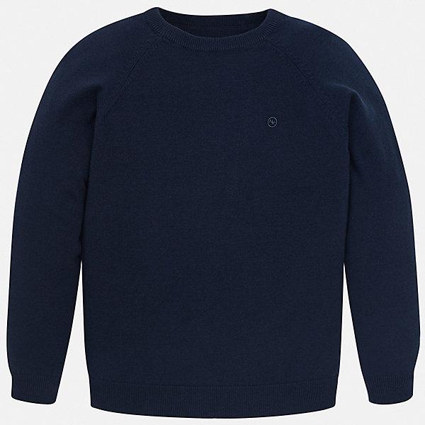 Свитер Mayoral для мальчикаСвитера и кардиганы<br>Характеристики товара:<br><br>• цвет: синий<br>• состав ткани: 82% хлопок, 18% полиамид<br>• сезон: демисезон<br>• длинные рукава<br>• страна бренда: Испания<br>• стиль и качество<br><br>Практичный детский свитер сделан из дышащего приятного на ощупь материала. Благодаря продуманному крою детского свитера создаются комфортные условия для тела. Свитер для мальчика отличается стильным продуманным дизайном.<br><br>Свитер Mayoral (Майорал) для мальчика можно купить в нашем интернет-магазине.<br>Ширина мм: 190; Глубина мм: 74; Высота мм: 229; Вес г: 236; Цвет: синий; Возраст от месяцев: 168; Возраст до месяцев: 180; Пол: Мужской; Возраст: Детский; Размер: 170,164,158,152,140,128/134; SKU: 7541596;