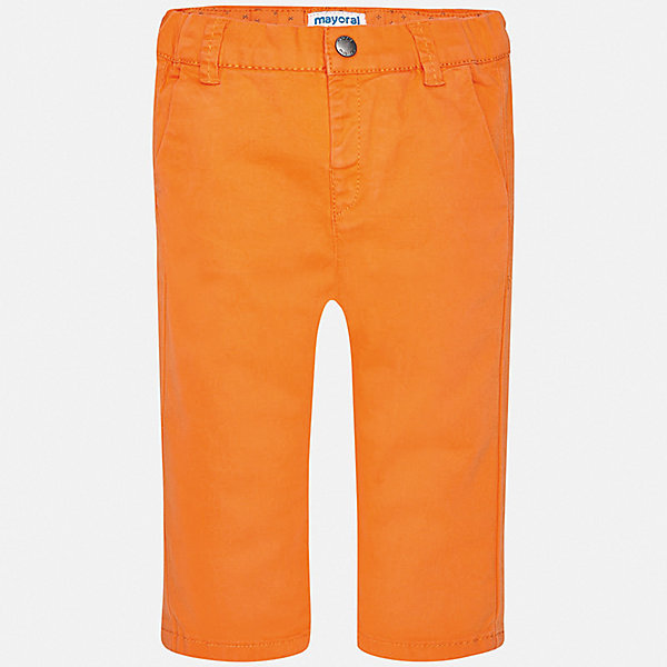 Брюки Mayoral для мальчикаДжинсы и брючки<br>Характеристики товара:<br><br>• цвет: оранжевый<br>• состав ткани: 98% хлопок, 2% эластан<br>• сезон: демисезон<br>• шлевки<br>• регулируемая талия<br>• застежка: пуговица<br>• страна бренда: Испания<br>• стиль и качество<br><br>Яркие хлопковые брюки для мальчика от Майорал помогут обеспечить ребенку комфорт. Такие детские брюки отличаются лаконичным дизайном. В брюках классического силуэта для мальчика от испанской компании Майорал ребенок будет выглядеть модно, а чувствовать себя - комфортно. <br><br>Брюки Mayoral (Майорал) для мальчика можно купить в нашем интернет-магазине.<br>Ширина мм: 215; Глубина мм: 88; Высота мм: 191; Вес г: 336; Цвет: оранжевый; Возраст от месяцев: 6; Возраст до месяцев: 9; Пол: Мужской; Возраст: Детский; Размер: 74,98,92,86,80; SKU: 7541774;