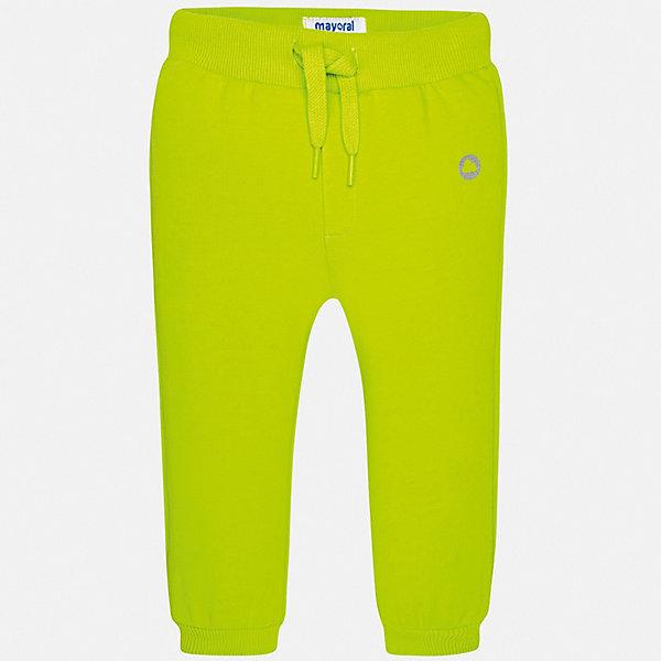 Брюки Mayoral для мальчикаДжинсы и брючки<br>Характеристики товара:<br><br>• цвет: зеленый<br>• состав ткани: 78% хлопок, 18% полиэстер, 4% эластан<br>• сезон: демисезон<br>• особенности модели: спортивный стиль<br>• пояс: шнурок<br>• страна бренда: Испания<br>• стиль и качество<br><br>Такие спортивные детские брюки сшиты из дышащего качественного материала. Благодаря наличию в его составе натурального хлопка материал детских брюк создает комфортные условия для тела. Спортивные брюки для мальчика от Mayoral отличаются модным дизайном и красивой расцветкой. <br><br>Брюки Mayoral (Майорал) для мальчика можно купить в нашем интернет-магазине.<br>Ширина мм: 215; Глубина мм: 88; Высота мм: 191; Вес г: 336; Цвет: зеленый; Возраст от месяцев: 6; Возраст до месяцев: 9; Пол: Мужской; Возраст: Детский; Размер: 74,98,92,86,80; SKU: 7541962;