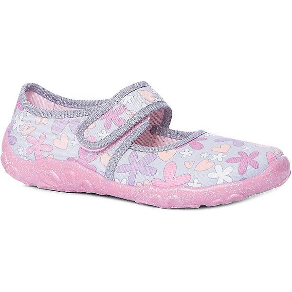 Туфли Superfit для девочкиТекстильные туфли<br>Характеристики товара:<br><br>• цвет: розовый<br>• материал верха: текстиль<br>• подклад: текстиль<br>• стелька: текстиль<br>• подошва: полиуретан<br>• сезон: лето<br>• особенности модели: цветочный принт<br>• застежка: липучка<br>• защита мыса<br>• анатомические<br>• страна бренда: Австрия<br><br><br>Уютная и комфортная домашняя обувь SUPERFIT для девочек. Произведена из плотного текстиля наивысшего качества. Плотный задник надёжно защитит ножку Вашего ребёнка от повреждений. Застёжка-липучка гибкой конфигурации фиксирует обувь точно по стопе. Рельефная, дышащая подошва с отверстиями для циркуляции воздуха произведена из нескользящих материалов.<br><br>Обувь SUPERFIT - это качественная европейская продукция, которая помогает детям выглядеть модно и чувствовать себя удобно.<br><br>Текстильные туфли для девочки SUPERFIT можно купить в нашем интернет-магазине.<br>Ширина мм: 227; Глубина мм: 145; Высота мм: 124; Вес г: 325; Цвет: серый; Возраст от месяцев: 18; Возраст до месяцев: 21; Пол: Женский; Возраст: Детский; Размер: 23,35,24,25,26,27,28,29,30,31,32,33,34; SKU: 7542425;