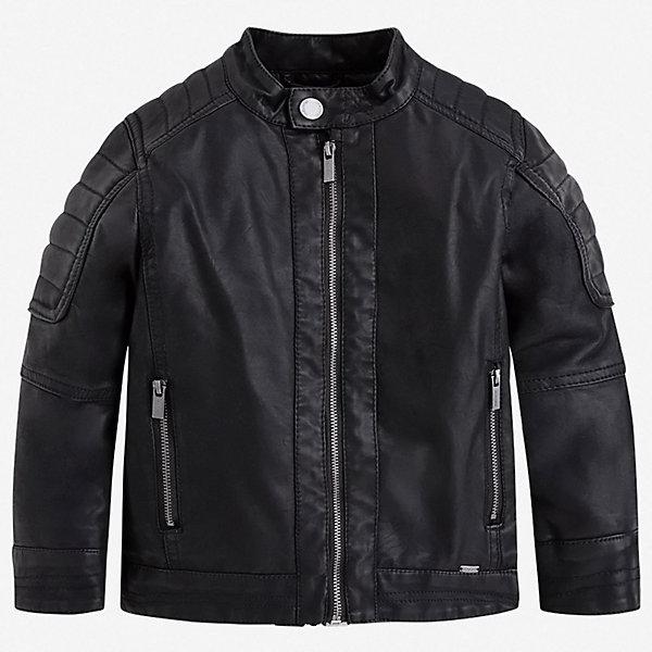 Куртка Mayoral для мальчикаВерхняя одежда<br>Характеристики товара:<br><br>• цвет: черный<br>• состав ткани: 100% полиуретан<br>• подкладка: 100% полиэстер<br>• утеплитель: нет<br>• сезон: демисезон<br>• особенности куртки: без капюшона<br>• застежка: молния<br>• страна бренда: Испания<br>• неповторимый стиль Mayoral<br><br>Куртка для детей от популярного бренда Mayoral - стильная и удобная вещь. Эта легкая детская куртка подойдет для переменной погоды. Детская куртка сшита из приятного на ощупь материала. Куртка для мальчика Mayoral дополнена подкладкой и карманами.<br><br>Куртку Mayoral (Майорал) для мальчика можно купить в нашем интернет-магазине.<br>Ширина мм: 356; Глубина мм: 10; Высота мм: 245; Вес г: 519; Цвет: черный; Возраст от месяцев: 36; Возраст до месяцев: 48; Пол: Мужской; Возраст: Детский; Размер: 104,134,128,122,116,110; SKU: 7542889;