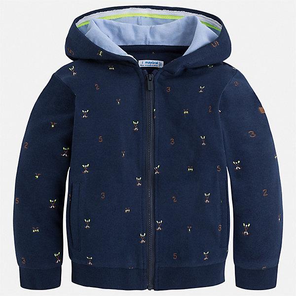 Куртка Mayoral для мальчикаВерхняя одежда<br>Характеристики товара:<br><br>• цвет: синий<br>• состав ткани: 100% хлопок<br>• утеплитель: нет<br>• сезон: демисезон<br>• особенности куртки: с капюшоном<br>• застежка: молния<br>• страна бренда: Испания<br>• неповторимый стиль Mayoral<br><br>Синяя легкая детская куртка сделана из качественного материала. Куртка для мальчика отличается стильным продуманным дизайном. В детской куртке есть капюшон, модель дополнена мягкими манжетами и удобными карманами.<br><br>Куртку Mayoral (Майорал) для мальчика можно купить в нашем интернет-магазине.<br>Ширина мм: 356; Глубина мм: 10; Высота мм: 245; Вес г: 519; Цвет: синий; Возраст от месяцев: 96; Возраст до месяцев: 108; Пол: Мужской; Возраст: Детский; Размер: 134,128,122,116,110,104,98,92; SKU: 7542923;