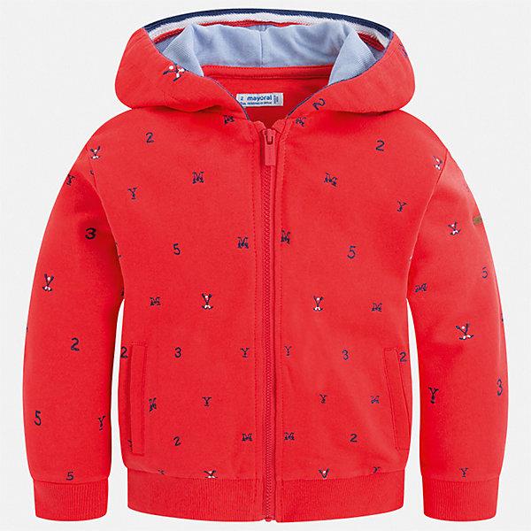 Куртка Mayoral для мальчикаТолстовки<br>Характеристики товара:<br><br>• цвет: красный<br>• состав ткани: 100% хлопок<br>• утеплитель: нет<br>• сезон: демисезон<br>• особенности куртки: с капюшоном<br>• застежка: молния<br>• страна бренда: Испания<br>• неповторимый стиль Mayoral<br><br>Эта куртка для мальчика от Майорал - пример высокого качества и модного дизайна. В куртке для мальчика от испанской компании Майорал ребенок будет выглядеть модно, а чувствовать себя - комфортно. Детская куртка отличается качественной фурнитурой. <br><br>Куртку Mayoral (Майорал) для мальчика можно купить в нашем интернет-магазине.<br>Ширина мм: 356; Глубина мм: 10; Высота мм: 245; Вес г: 519; Цвет: бордовый; Возраст от месяцев: 48; Возраст до месяцев: 60; Пол: Мужской; Возраст: Детский; Размер: 110,104,98,92,134,128,122,116; SKU: 7542932;