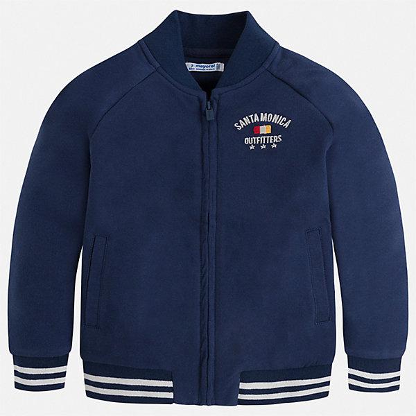 Куртка Mayoral для мальчикаВетровки и жакеты<br>Характеристики товара:<br><br>• цвет: синий<br>• состав ткани: 60% хлопок, 40% полиэстер<br>• сезон: демисезон<br>• особенности куртки: без капюшона<br>• застежка: молния<br>• страна бренда: Испания<br>• неповторимый стиль Mayoral<br><br>Легкая детская куртка отличается качественной фурнитурой. Эта куртка для мальчика от Майорал - пример высокого качества и модного дизайна. В куртке для мальчика от испанской компании Майорал ребенок будет выглядеть модно, а чувствовать себя - комфортно. <br><br>Куртку Mayoral (Майорал) для мальчика можно купить в нашем интернет-магазине.<br>Ширина мм: 356; Глубина мм: 10; Высота мм: 245; Вес г: 519; Цвет: синий; Возраст от месяцев: 18; Возраст до месяцев: 24; Пол: Мужской; Возраст: Детский; Размер: 92,134,128,122,116,110,104,98; SKU: 7542959;