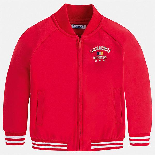 Куртка Mayoral для мальчикаВетровки и жакеты<br>Характеристики товара:<br><br>• цвет: красный<br>• состав ткани: 60% хлопок, 40% полиэстер<br>• сезон: демисезон<br>• особенности куртки: без капюшона<br>• застежка: молния<br>• страна бренда: Испания<br>• неповторимый стиль Mayoral<br><br>Такая детская куртка подойдет для прохладной или переменной погоды. Легкая куртка для детей от популярного бренда Mayoral - стильная и удобная вещь. Детская куртка сшита из приятного на ощупь материала. Куртка для мальчика Mayoral дополнена манжетами и карманами.<br><br>Куртку Mayoral (Майорал) для мальчика можно купить в нашем интернет-магазине.<br>Ширина мм: 356; Глубина мм: 10; Высота мм: 245; Вес г: 519; Цвет: бордовый; Возраст от месяцев: 48; Возраст до месяцев: 60; Пол: Мужской; Возраст: Детский; Размер: 110,104,98,92,134,128,122,116; SKU: 7542968;