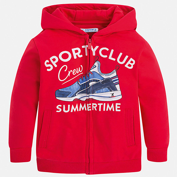 Куртка Mayoral для мальчикаВерхняя одежда<br>Характеристики товара:<br><br>• цвет: красный<br>• состав ткани: 60% хлопок, 40% полиэстер<br>• сезон: демисезон<br>• особенности куртки: с капюшоном<br>• застежка: молния<br>• страна бренда: Испания<br>• неповторимый стиль Mayoral<br><br>Красная детская куртка подойдет для прохладной или переменной погоды. Легкая куртка для детей от популярного бренда Mayoral - стильная и удобная вещь. Детская куртка сшита из приятного на ощупь материала. Куртка для мальчика Mayoral дополнена манжетами и карманами.<br><br>Куртку Mayoral (Майорал) для мальчика можно купить в нашем интернет-магазине.<br>Ширина мм: 356; Глубина мм: 10; Высота мм: 245; Вес г: 519; Цвет: бордовый; Возраст от месяцев: 48; Возраст до месяцев: 60; Пол: Мужской; Возраст: Детский; Размер: 110,104,98,92,134,128,122,116; SKU: 7542994;