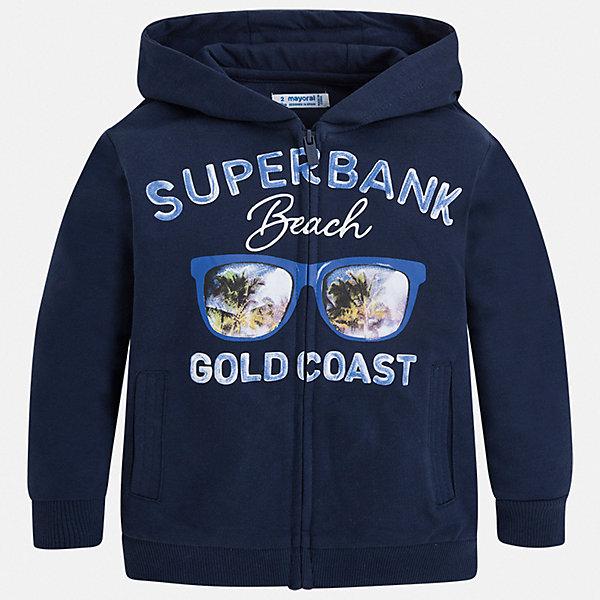 Куртка Mayoral для мальчикаВерхняя одежда<br>Характеристики товара:<br><br>• цвет: синий<br>• состав ткани: 60% хлопок, 40% полиэстер<br>• сезон: демисезон<br>• особенности куртки: с капюшоном<br>• застежка: молния<br>• страна бренда: Испания<br>• неповторимый стиль Mayoral<br><br>Практичная легкая куртка для детей сделана из качественного материала. Куртка для мальчика отличается стильным продуманным дизайном. В детской куртке есть капюшон, модель дополнена мягкими манжетами и удобными карманами.<br><br>Куртку Mayoral (Майорал) для мальчика можно купить в нашем интернет-магазине.<br>Ширина мм: 356; Глубина мм: 10; Высота мм: 245; Вес г: 519; Цвет: синий; Возраст от месяцев: 24; Возраст до месяцев: 36; Пол: Мужской; Возраст: Детский; Размер: 98,134,128,122,116,110,104; SKU: 7543003;