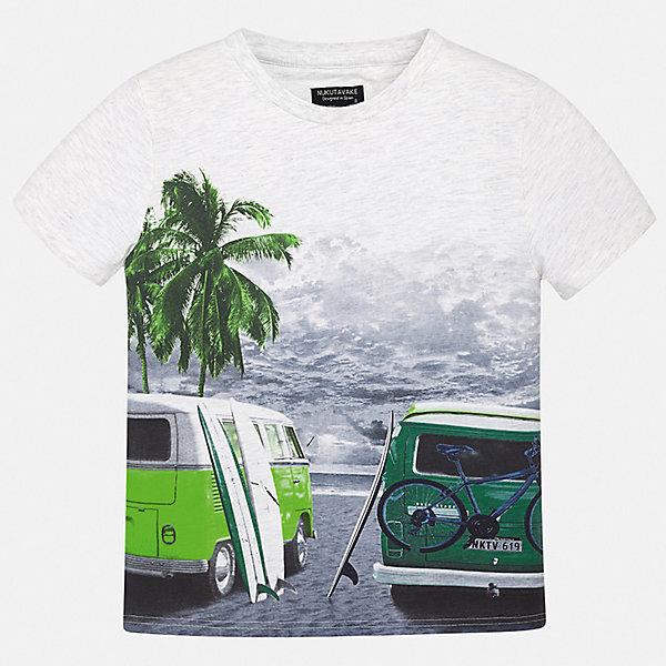 Футболка Mayoral для мальчикаФутболки, поло и топы<br>Характеристики товара:<br><br>• цвет: серый<br>• состав ткани: 100% хлопок<br>• сезон: лето<br>• короткие рукава<br>• страна бренда: Испания<br>• неповторимый стиль Mayoral<br><br>Оригинальная детская футболка сделана из натуральной трикотажной ткани, которая обеспечивает ребенку комфорт. Трикотажная футболка для мальчика от Mayoral - универсальная и комфортная базовая вещь для детского гардероба. Такая детская футболка поможет создать модный и удобный наряд для ребенка.<br><br>Футболку Mayoral (Майорал) для мальчика можно купить в нашем интернет-магазине.<br>Ширина мм: 199; Глубина мм: 10; Высота мм: 161; Вес г: 151; Цвет: серый; Возраст от месяцев: 168; Возраст до месяцев: 180; Пол: Мужской; Возраст: Детский; Размер: 170,128/134,164,158,152,140; SKU: 7543980;