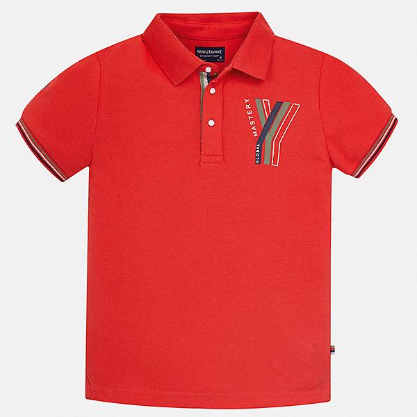 Рубашка-поло Mayoral для мальчикаФутболки, поло и топы<br>Характеристики товара:<br><br>• цвет: красный<br>• состав ткани: 100% хлопок<br>• сезон: лето<br>• особенности модели: отложной воротник<br>• застежка: пуговицы<br>• короткие рукава<br>• страна бренда: Испания<br>• неповторимый стиль Mayoral<br><br>Эффектная футболка-поло для мальчика отличается стильным продуманным дизайном. Стильная детская футболка-поло с коротким рукавом сделана из дышащего приятного на ощупь материала. Благодаря продуманному крою детской футболки-поло создаются комфортные условия для тела. <br><br>Футболку-поло Mayoral (Майорал) для мальчика можно купить в нашем интернет-магазине.<br>Ширина мм: 174; Глубина мм: 10; Высота мм: 169; Вес г: 157; Цвет: бордовый; Возраст от месяцев: 96; Возраст до месяцев: 108; Пол: Мужской; Возраст: Детский; Размер: 128/134,164,158,152,140; SKU: 7544182;