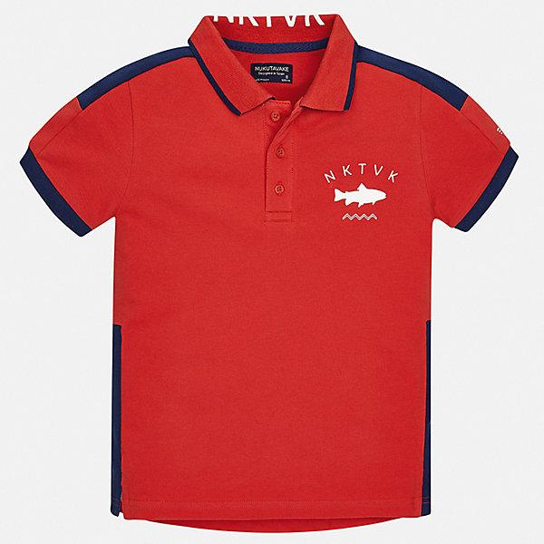 Рубашка-поло Mayoral для мальчикаФутболки, поло и топы<br>Характеристики товара:<br><br>• цвет: красный<br>• состав ткани: 95% хлопок, 5% эластан<br>• сезон: лето<br>• особенности модели: отложной воротник<br>• застежка: пуговицы<br>• короткие рукава<br>• страна бренда: Испания<br>• неповторимый стиль Mayoral<br><br>Хлопковая футболка-поло для мальчика отличается стильным продуманным дизайном. Стильная детская футболка-поло с коротким рукавом сделана из дышащего приятного на ощупь материала. Благодаря продуманному крою детской футболки-поло создаются комфортные условия для тела. <br><br>Футболку-поло Mayoral (Майорал) для мальчика можно купить в нашем интернет-магазине.<br>Ширина мм: 174; Глубина мм: 10; Высота мм: 169; Вес г: 157; Цвет: красный; Возраст от месяцев: 96; Возраст до месяцев: 108; Пол: Мужской; Возраст: Детский; Размер: 128/134,170,164,158,152,140; SKU: 7544265;