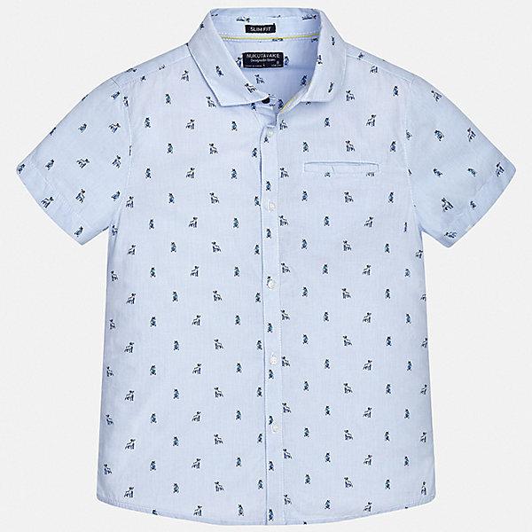 Рубашка Mayoral для мальчикаБлузки и рубашки<br>Характеристики товара:<br><br>• цвет: голубой<br>• состав ткани: 100% хлопок<br>• сезон: лето<br>• застежка: пуговицы<br>• короткие рукава<br>• страна бренда: Испания<br>• неповторимый стиль Mayoral<br><br>Хлопковая рубашка для мальчика от Майорал поможет создать стильный и удобный наряд. Детская рубашка отличается модным и продуманным дизайном. В рубашке для мальчика от испанской компании Майорал ребенок будет выглядеть оригинально и аккуратно. <br><br>Рубашку Mayoral (Майорал) для мальчика можно купить в нашем интернет-магазине.<br>Ширина мм: 174; Глубина мм: 10; Высота мм: 169; Вес г: 157; Цвет: голубой; Возраст от месяцев: 168; Возраст до месяцев: 180; Пол: Мужской; Возраст: Детский; Размер: 170,128/134,140,152,158,164; SKU: 7544335;