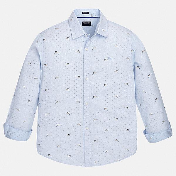 Рубашка Mayoral для мальчикаБлузки и рубашки<br>Характеристики товара:<br><br>• цвет: голубой<br>• состав ткани: 100% хлопок<br>• сезон: круглый год<br>• застежка: пуговицы<br>• длинные рукава<br>• страна бренда: Испания<br>• неповторимый стиль Mayoral<br><br>Стильную детскую рубашку от Mayoral можно удачно комбинировать с различными вещами. Детская рубашка сшита из приятного на ощупь материала, который позволяет коже дышать. Легкая рубашка для мальчика Mayoral удобно сидит по фигуре. Стильная детская рубашка сделана из натуральной хлопковой ткани. <br><br>Рубашку Mayoral (Майорал) для мальчика можно купить в нашем интернет-магазине.<br>Ширина мм: 174; Глубина мм: 10; Высота мм: 169; Вес г: 157; Цвет: голубой; Возраст от месяцев: 96; Возраст до месяцев: 108; Пол: Мужской; Возраст: Детский; Размер: 128/134,170,164,158,152,140; SKU: 7544412;