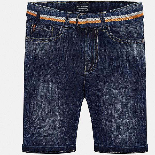 Шорты джинсовые Mayoral для мальчикаШорты, бриджи, капри<br>Характеристики товара:<br><br>• цвет: синий<br>• комплектация: бриджи, ремень<br>• состав ткани: 100% хлопок<br>• сезон: лето<br>• шлевки<br>• регулируемая талия<br>• застежка: пуговица<br>• страна бренда: Испания<br>• неповторимый стиль Mayoral<br><br>Джинсовые бриджи для мальчика от Майорал созданы специально для детей. Стильные детские бриджи отличаются оригинальным дизайном. В шортах для мальчика от испанской компании Майорал ребенок будет выглядеть модно, а чувствовать себя - комфортно. <br><br>Бриджи Mayoral (Майорал) для мальчика можно купить в нашем интернет-магазине.<br>Ширина мм: 191; Глубина мм: 10; Высота мм: 175; Вес г: 273; Цвет: голубой; Возраст от месяцев: 168; Возраст до месяцев: 180; Пол: Мужской; Возраст: Детский; Размер: 170,128/134,140,152,158,164; SKU: 7544530;