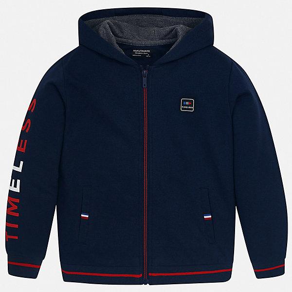 Куртка Mayoral для мальчикаВерхняя одежда<br>Характеристики товара:<br><br>• цвет: синий<br>• состав ткани: 60% хлопок, 40% полиэстер<br>• утеплитель: нет<br>• сезон: демисезон<br>• особенности куртки: с капюшоном, спортивный стиль<br>• застежка: молния<br>• страна бренда: Испания<br>• неповторимый стиль Mayoral<br><br>Практичная детская куртка сшита из качественного материала. Куртка для мальчика Mayoral отличается стильным декором. Эта детская ветровка подойдет для переменной погоды. Куртка для детей от Mayoral отлично сочетается с вещами различных стилей. <br><br>Куртку Mayoral (Майорал) для мальчика можно купить в нашем интернет-магазине.<br>Ширина мм: 356; Глубина мм: 10; Высота мм: 245; Вес г: 519; Цвет: синий; Возраст от месяцев: 168; Возраст до месяцев: 180; Пол: Мужской; Возраст: Детский; Размер: 170,128/134,140,152,158,164; SKU: 7544844;