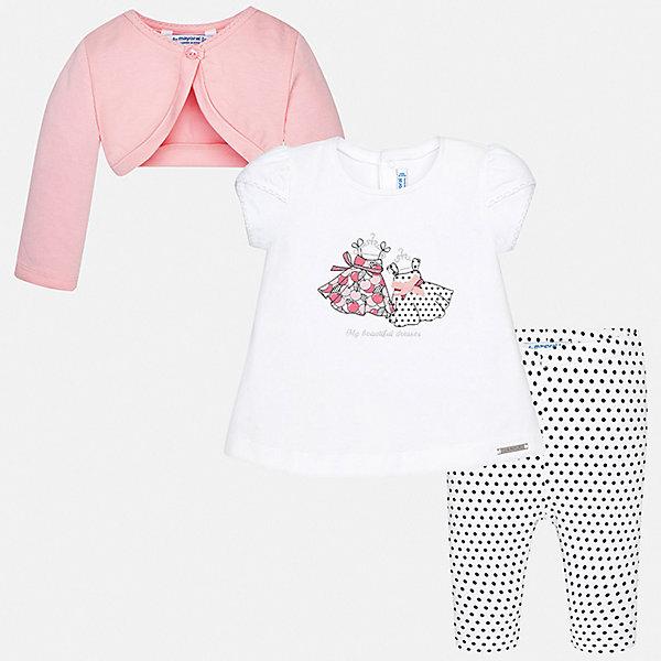 Купить Комплект:леггинсы, футболка 2шт. Mayoral для девочки, Индия, розовый, 86, 98, 92, 80, 74, Женский