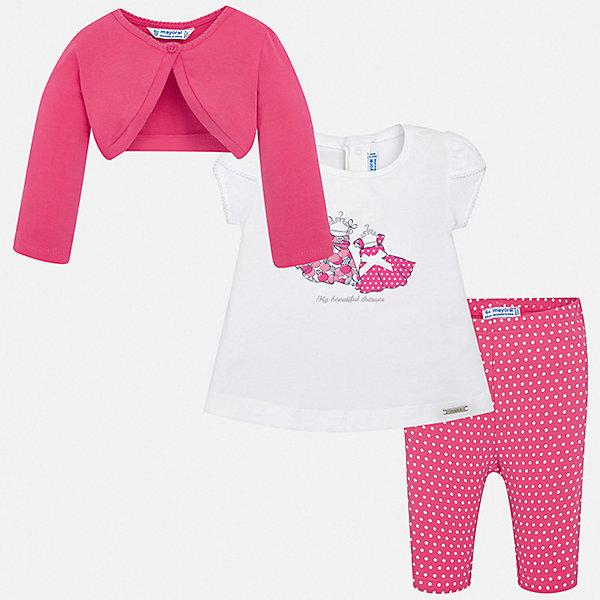 Купить Комплект:леггинсы, футболка 2шт. Mayoral для девочки, Китай, розовый, 74, 98, 92, 86, 80, Женский