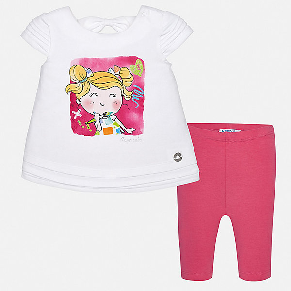Купить Комплект:леггинсы, блузка Mayoral для девочки, Индия, розовый, 74, 98, 92, 86, 80, Женский
