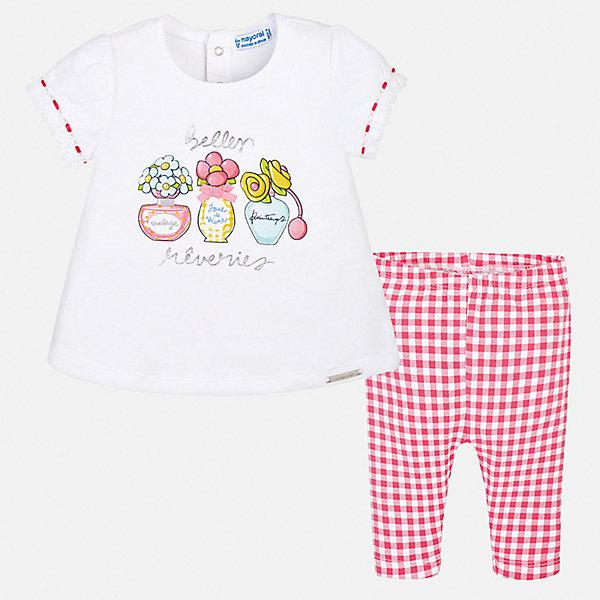 Купить Комплект: футболка, леггинсы Mayoral для девочки, Китай, розовый, 74, 98, 92, 86, 80, Женский