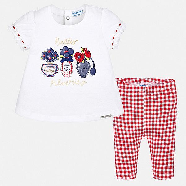 Купить Комплект:футболка, леггинсы Mayoral для девочки, Китай, красный, 74, 98, 92, 86, 80, Женский